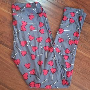 Heart Lollipops One Size Lularoe Leggings